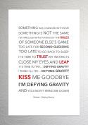 Wicked - Defying Gravity - Funky Lyric Art Print - A4 Size