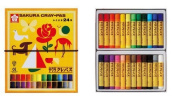 (Gomuhimo with) five set 24 colour pastel crayon rolling thickly