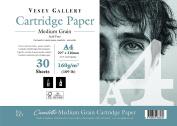 Premium Cartridge Paper Pad. 160gsm Canaletto Medium Grain.