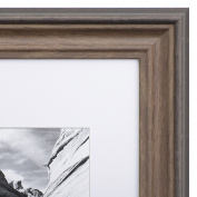 11x14 Picture Frame Brown - Matted to 8x10, Frames by EcoHome