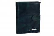 Wallet man vertical PIERRE CARDIN blue in leather button opening VA2012