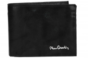 Wallet man PIERRE CARDIN black leather with lateral flap and coin purse VA2005