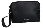 Bag man hand mini PIERRE CARDIN pochette black leather Made in Italy VF329