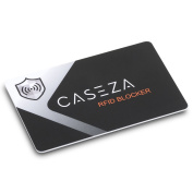 RFID Blocking Card - CASEZA RFID NFC Card Protector - Signal Blocking Protection for Your Credit Cards, ID & more - Replaces Blocking Sleeves / Bags - One Blocker Card Protects Your Entire Wallet
