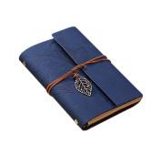 Cosanter Sketchbook Vintage Notebook Loose Leaf Dark Blue Leather Cover Travel Journal Gift