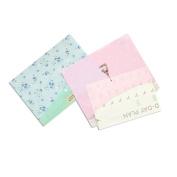 QHGstore 2PCS Little Flowers Floral A4 File Folder Document Filing Bag Stationery Bag Carpeta File Bag