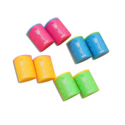 QHGstore 2pcs Mini Cute Special Offer Of Childhood Simple Cylindrical Pencil Sharpener Stationery