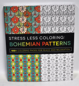 Stress Less Colouring Bohemian Patterns Colouring Book