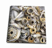 Florene Steam Punk - Steampunk Rusty Parts - Drawing Book - Drawing Book 20cm x 20cm