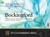 Bockingford Watercolour Paper Spiral Bound Pad 12 Sheets 300gsm | 36cm x 25cm