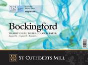 Bockingford Watercolour Paper Spiral Bound Pad 12 Sheets 300gsm | 30cm X 23cm