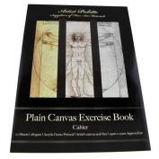 Plain Canvas 19cm x 27cm Exercise Book - 10 Sheets 330GSM