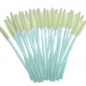 100 PCS Mini Makeup Brush Mingfa.y Disposable Eyelash Cosmetic Brushes