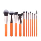 11PCS Make Up Brush Set Mingfa.y Foundation Eyebrow Eyeliner Blush Blending Cosmetic Brushes