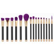 15PCS Mini Make Up Brush Set Mingfa.y Eyebrow Eyeliner Blush Cosmetic Brushes