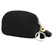 Women Mini Wallet Holder with Rose Pendant Coin Purse Leather Ladies Clutch Small Bags