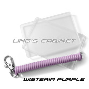 [LM-K2+CS2 - Wisteria Purple] Oyster Card Protective Case with Spiral Elastic Keychain
