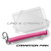 [LM-K2+CS2 - Carnation Pink] Oyster Card Protective Case with Spiral Elastic Keychain