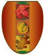 Toilet Tattoos TT-L300-O Autumn Leaves Decorative Applique for Toilet Lid, Elongated