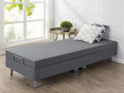 Zinus Memory Foam Resort Folding Guest Bed with Wheels, Narrow Twin / 80cm x 190cm