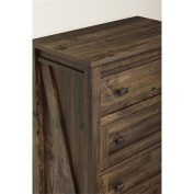 Ameriwood Home 5962215COM Farmington 4, 4 Drawer Dresser, Heritage PIne
