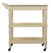 Décor Therapy Rolling bar Cart with Open Storage, White