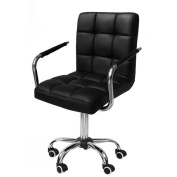 go2buy Black Faux Leather Home Office Computer Desk Chair Adjustable Gas Lift Swivel Stool Chairs