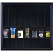 Pinnacle Frame Shot Glass Case, Holds Up to 28 Shot Glasses or Other Collection Pieces, Black