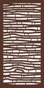 MODINEX Decorative Screen Panel - BAMBOO Design - 0.6m x 1.2m Size - Espresso - 80% Privacy
