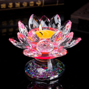 7.6cm Crystal Glass Lotus Candle Holders Creative Decoration for Home Decoration, Votive Activity, Wedding, and Gift