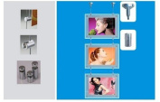 Gowe Double sided hanging crystal light box 500mmx700mm size 6 Pcs