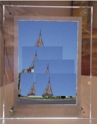 Gowe Crystal /Acrylic Led Light Box Frame size:387mmx510mm 3 Pcs A3 size