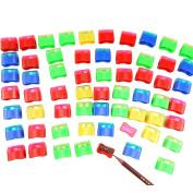 72Pcs/Pack Assorted Colours Plastic Pencil Sharpener