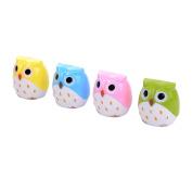 2Pcs Mini Owl Pencil Sharpener Cute School Office Supplies - Random Colour