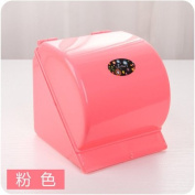 Generic Strong Wall Suction Tissue Holder Toilet Paper Holder Box large Capacity Seamless Hanger Kitchen Bathroom Towel Rack Napkin Box Small Pink