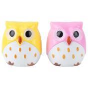 Pinzhi®2Pcs Cute Owl Shape Pencil Sharpener for Office School Stationery
