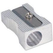 Pack of 5, 5 Star Pencil Sharpeners, Pocket-sized, Metal, Diameter 8mm, Single Hole-