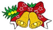Christmas Bell Cartoon Hippie Retro Biker Jacket T-shirt Vest Patch Sew Iron on Embroidered Badge Custom