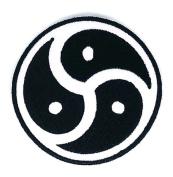Aum Om Ohm Hindu Yoga Indian Lotus Lucky Sign Hippie Retro Biker Jacket T-shirt Vest Patch Sew Iron on Embroidered Badge Custom