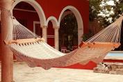 Hacienda Mayan Hammock Deluxe in virgin COTTON rope. Most luxurious hammock in the market