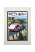 Kentucky - Retro Camper on Road
