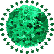 Hestya 60mls Irish Lucky Saint Patrick's Day Green Shamrock Confetti Party Supplies for St Patrick's Holiday Party Decorations