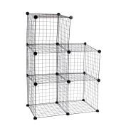 Modular shelving closet storage organising 5 metal cube 35x35cm black by PrimeMatik