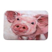 YJYdada Home Decor Pig Personalised Rug Carpet Bedroom/Bathroom Floor Mat 40cmX60cm