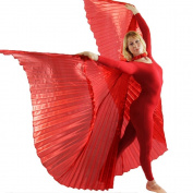 Danzcue Solid Red Belly Dance Worship Angel Wings With Sticks