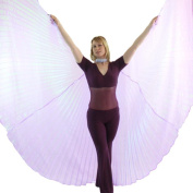 Danzcue Iridescent Lavender Belly Dance Worship Angel Wings With Sticks