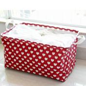 Large Storage Bag,Wanshop® Cotton Linen Waterproof PE Coating Storage Basket Sundries Storage Box , Moisture proof