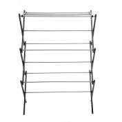 Homkit Foldable Rust-Proof Clothes Drying Rack with Three-tiers Top Rack