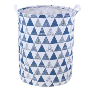 Mikolot Folding Clothes Toy Holder Organiser Laundry Basket Household Supplies(Blue