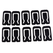 FITYLE 50 Pieces Shirt Clips Clothing Plastic Collar Packing Peg Blouses Skirts T Shirts Clips Household Hotel Laundry Clothing Folding Supplies 3.5x2x0.2cm - Black, 1